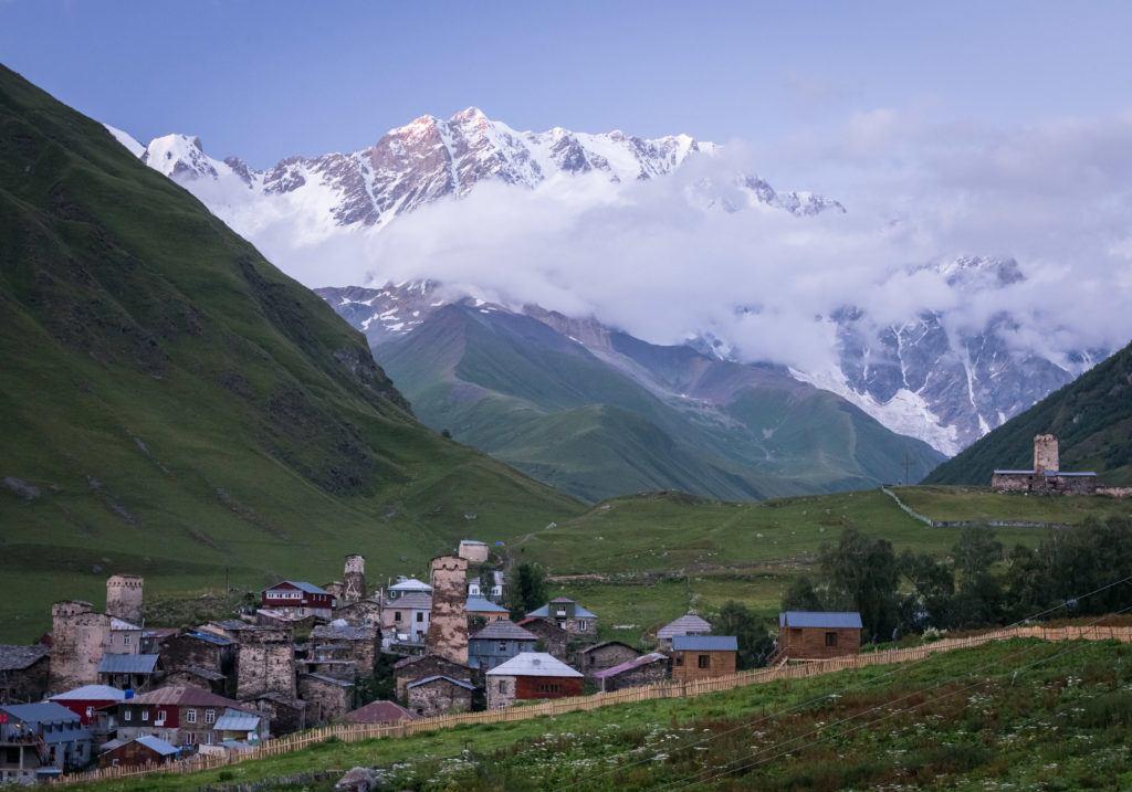 Ushguli Georgia: Mount Shkhara